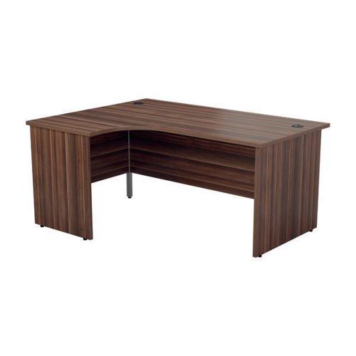 Jemini Radial Left Hand Desk Panel End 1800x1200x730mm Dark Walnut KF805175