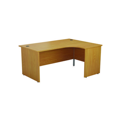 Jemini Right Hand Radial Panel End Desk 1800x1200mm Nova Oak KF805205