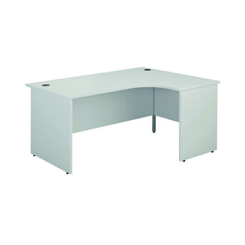 Jemini Right Hand Radial Panel End Desk 1800x1200mm White KF805212
