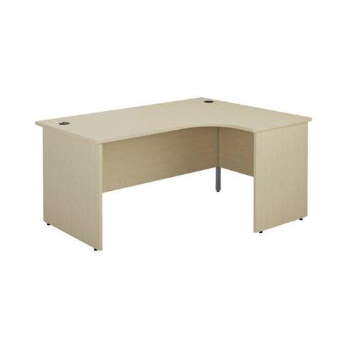 Jemini Right Hand Radial Panel End Desk 1800x1200mm Maple KF805229