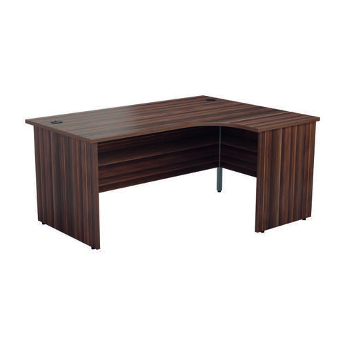 Jemini Right Hand Radial Panel End Desk 1800x1200 Dark Walnut KF805236