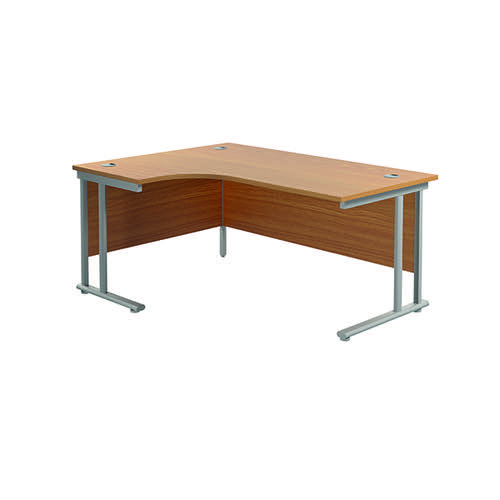 Jemini Cantilever Left Hand Radial Desk 1600 Nova Oak/Silver KF807544