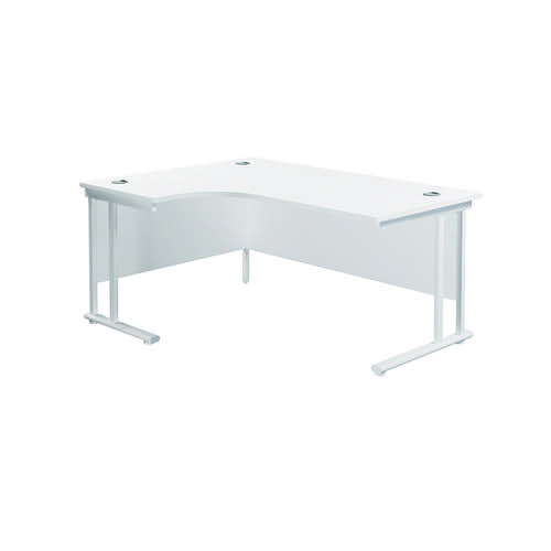 Jemini Cantilever Left Hand Radial Desk 1600mm White/White KF807674