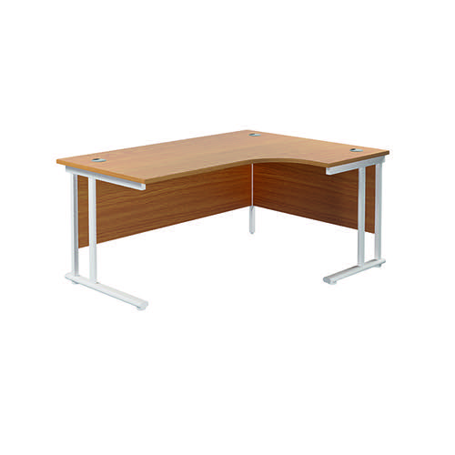 Jemini Cantilever Right Hand Radial Desk 1600 Nova Oak/White KF807728