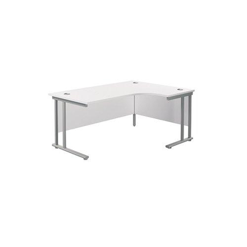 Jemini Cantilever Right Hand Radial Desk 1800mm White/Silver KF807858