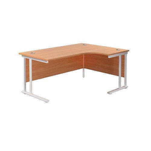 Jemini Cantilever Right Hand Radial Desk 1800mm Beech/White KF807940