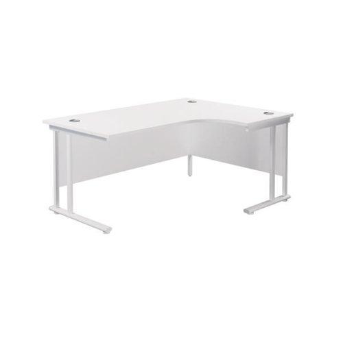 Jemini Cantilever Right Hand Radial Desk 1800mm White/White KF807971