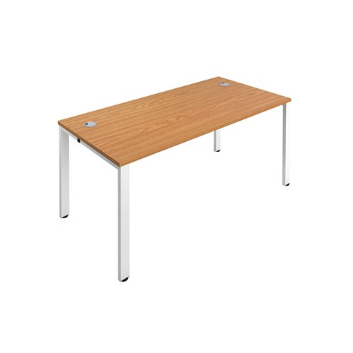 Jemini 1 Person Bench Desk 1200x800mm Nova Oak/White KF808503