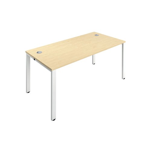 Jemini 1 Person Bench Desk 1200x800mm Maple/White KF808527