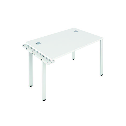 Jemini 1 Person Extension Bench 1200x800mm White/White KF808572