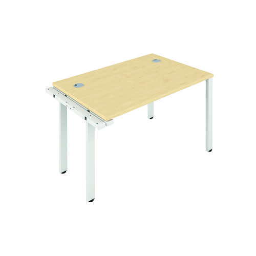 Jemini 1 Person Extension Bench 1200x800mm Maple/White KF808589