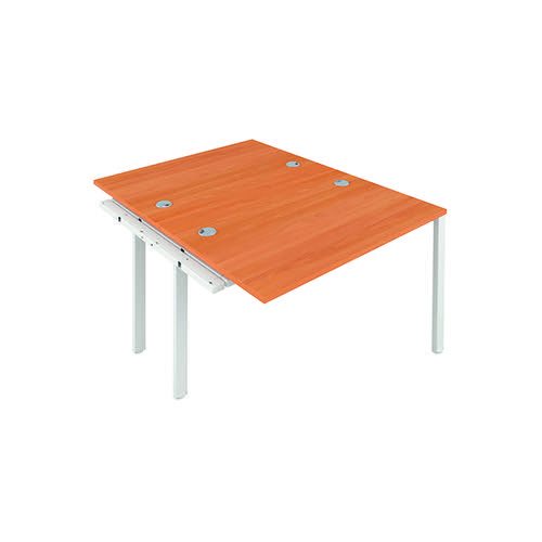Jemini 2 Person Extension Bench 1200x800mm Beech/White KF808602