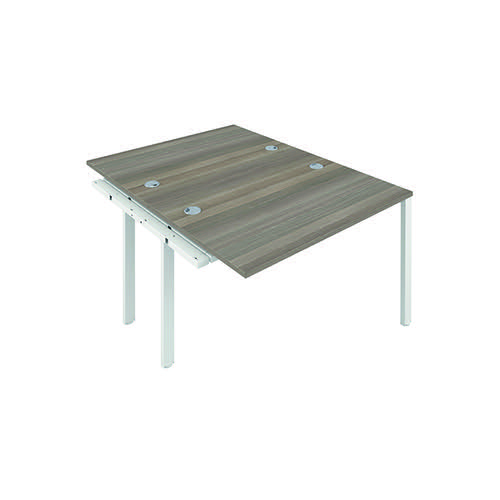 Jemini 2 Person Extension Bench 1200x800mm Grey Oak/White KF808619