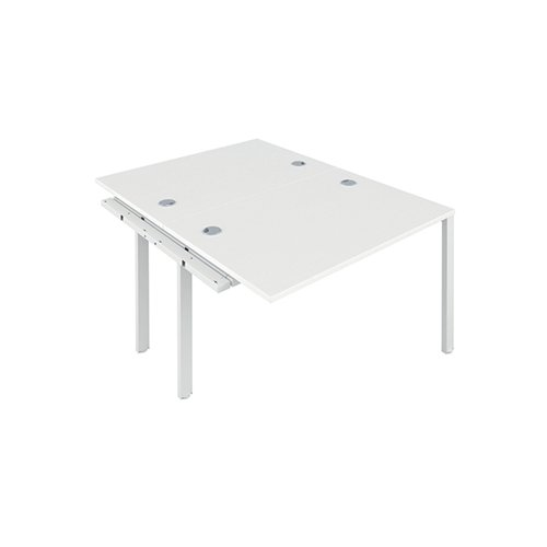 Jemini 2 Person Extension Bench 1200x800mm White/White KF808633