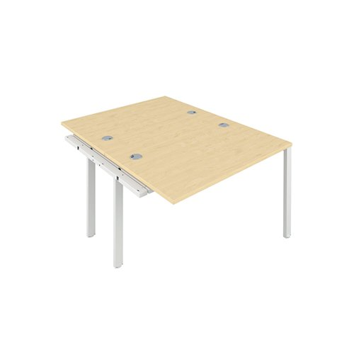 Jemini 2 Person Extension Bench 1200x800mm Maple/White KF808640