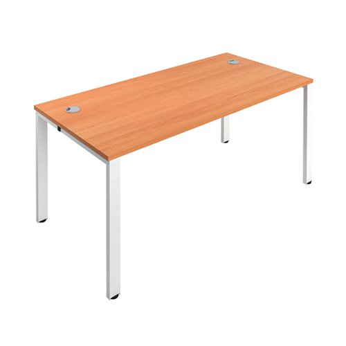 Jemini 1 Person Bench Desk 1400x800mm Beech/White KF808848