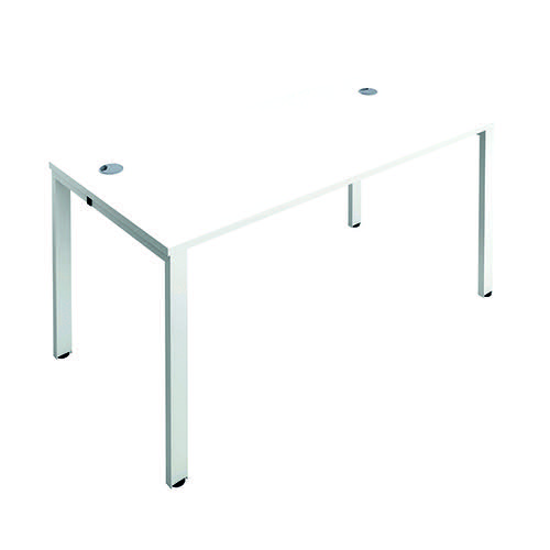 Jemini 1 Person Bench Desk 1400x800mm White/White KF808879