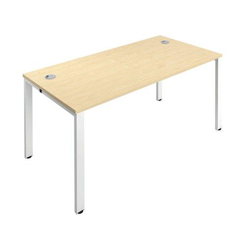 Jemini 1 Person Bench Desk 1400x800mm Maple/White KF808886