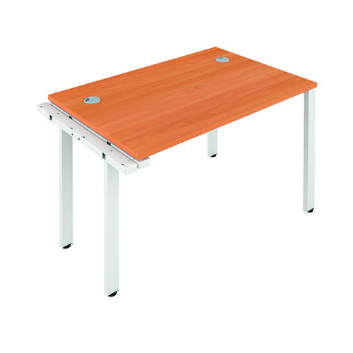 Jemini 1 Person Extension Bench 1400x800mm Beech/White KF808909