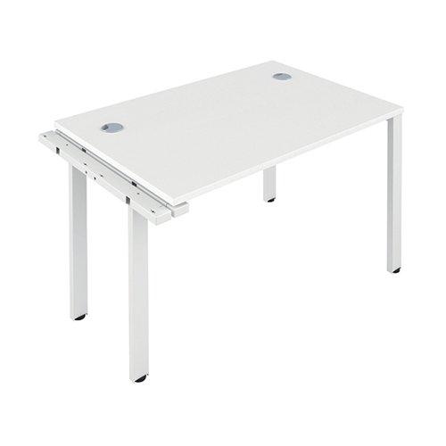 Jemini 1 Person Extension Bench 1400x800mm White/White KF808930
