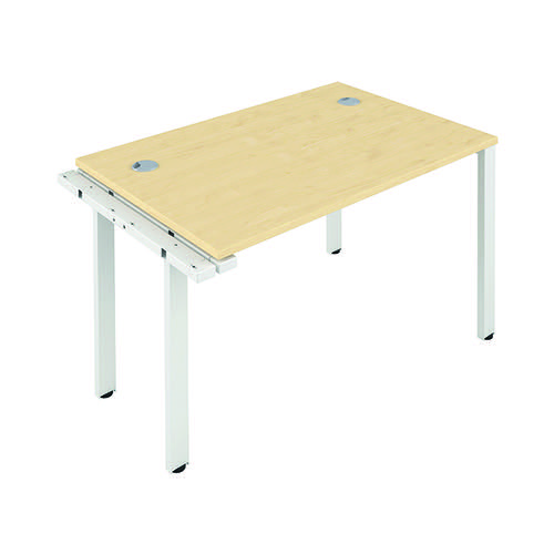 Jemini 1 Person Extension Bench 1400x800mm Maple/White KF808947
