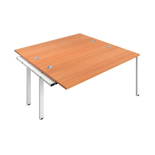 Jemini 2 Person Extension Bench 1400x800mm Beech/White KF808961