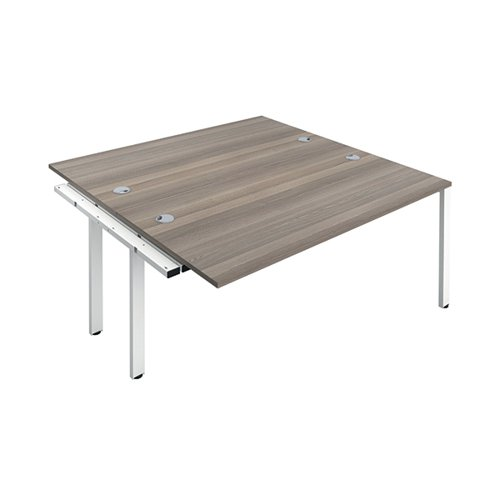 Jemini 2 Person Extension Bench 1400x800mm Grey Oak/White KF808978