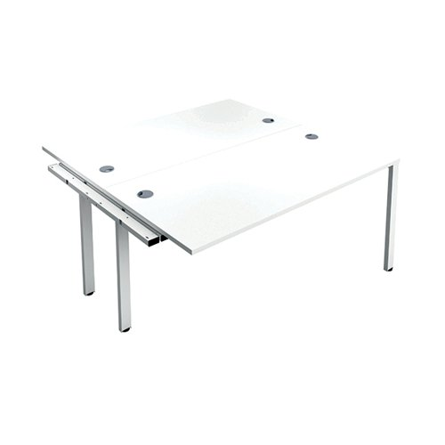Jemini 2 Person Extension Bench 1400x800mm White/White KF808992