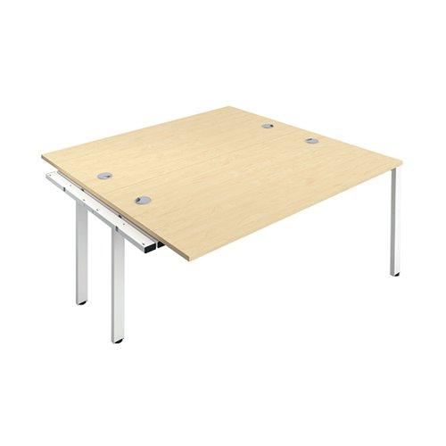 Jemini 2 Person Extension Bench 1400x800mm Maple/White KF809005