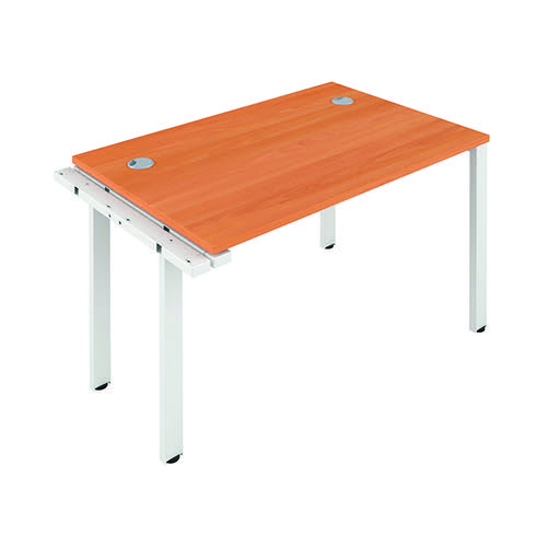 Jemini 1 Person Extension Bench 1600x800mm Beech/White KF809265