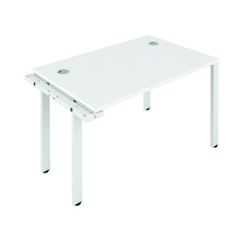 Jemini 1 Person Extension Bench 1600x800mm White/White KF809296