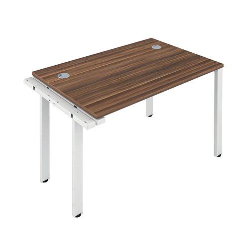 Jemini 1 Person Extension Bench Desk 1600x800x730mm Dark Walnut KF809319