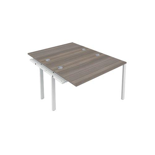 Jemini 2 Person Extension Bench 1600x800mm Grey Oak/White KF809333