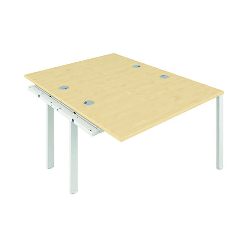 Jemini 2 Person Extension Bench 1600x800mm Maple/White KF809364