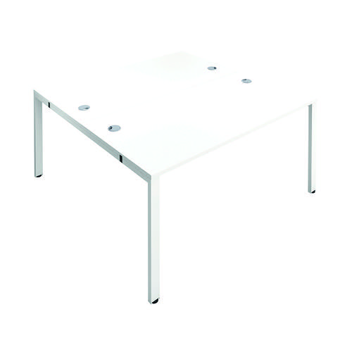 Jemini 2 Person Bench Desk 1600x800mm White/White KF809418