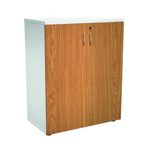 Jemini 1000 Wooden Cupboard 450mm Depth White/Nova Oak KF810155