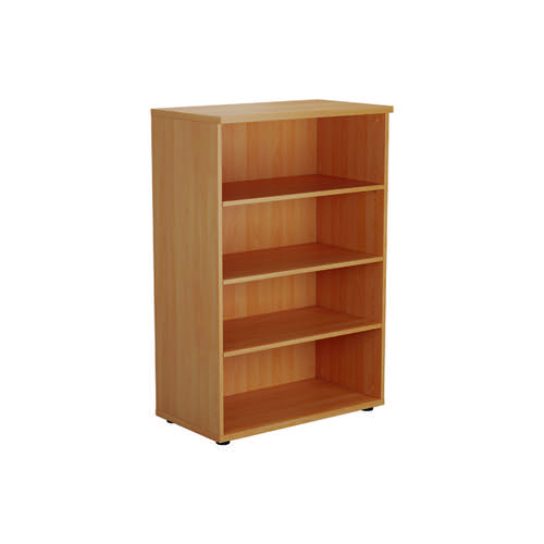 Jemini 1200 Wooden Bookcase 450mm Depth Beech KF810216