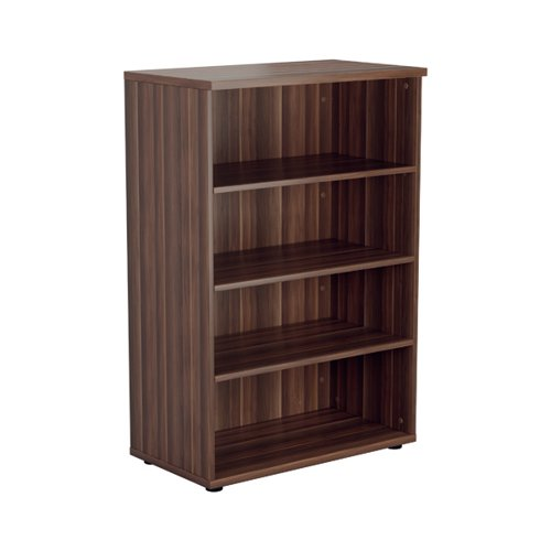 Jemini 1200 Wooden Bookcase 450mm Depth Dark Walnut KF810339