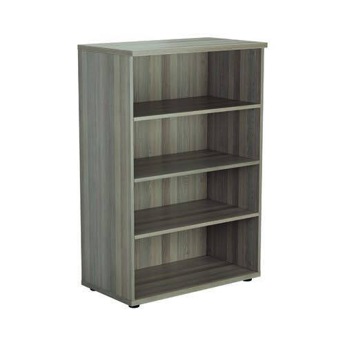 Jemini 1200 Wooden Bookcase 450mm Depth Grey Oak KF810346