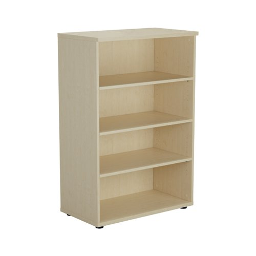Jemini 1200 Wooden Bookcase 450mm Depth Maple KF810353