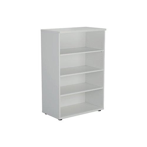 Jemini Wooden Bookcase 800x450x1200mm White KF810377