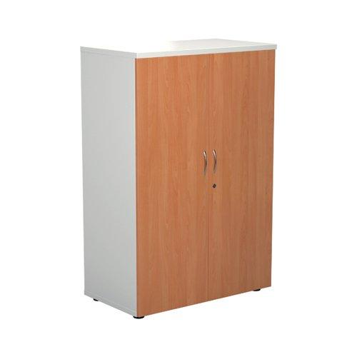 Jemini 1600 Wooden Cupboard 450mm Depth White/Beech KF810452