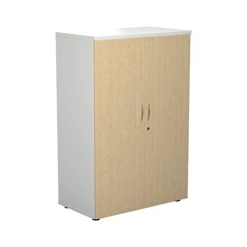 Jemini 1600 Wooden Cupboard 450mm Depth White/Maple KF810483
