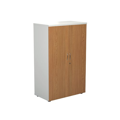 Jemini 1600 Wooden Cupboard 450mm Depth White/Nova Oak KF810490