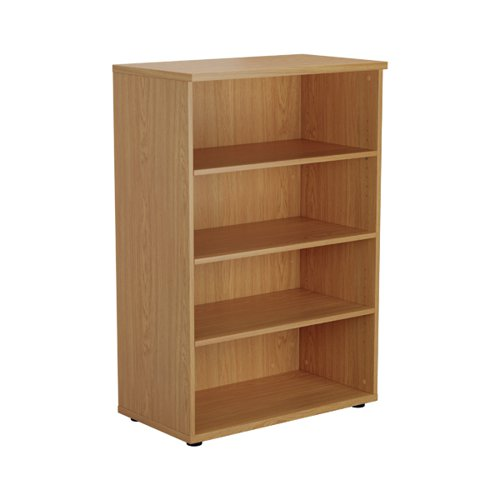 Jemini 1600 Wooden Bookcase 450mm Depth Nova Oak KF810537