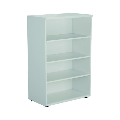 Jemini 1600 Wooden Bookcase 450mm Depth White KF810544