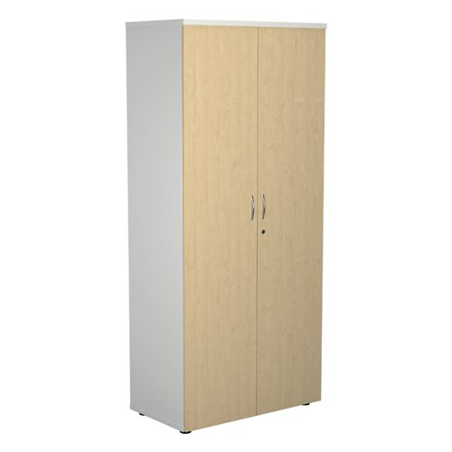 Jemini 1800 Wooden Cupboard 450mm Depth White/Maple KF810735