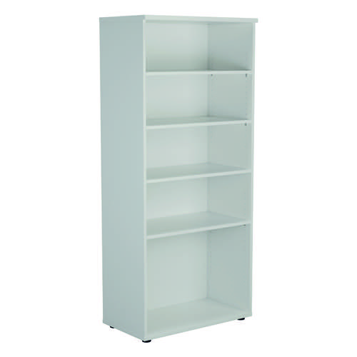 Jemini 1800 Wooden Bookcase 450mm Depth White KF811022