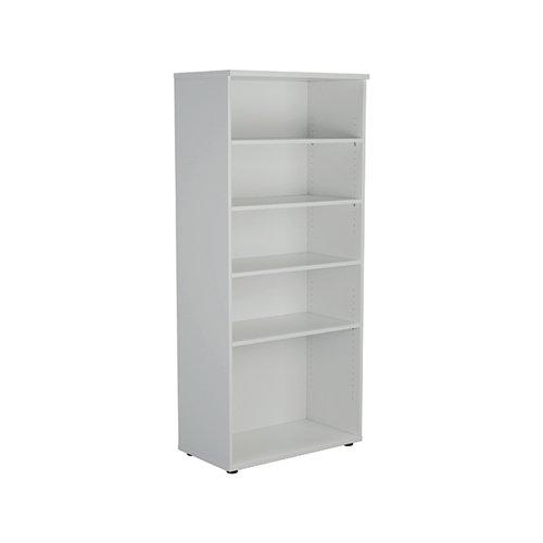 Jemini Wooden Bookcase 800x450x1800mm White KF811022