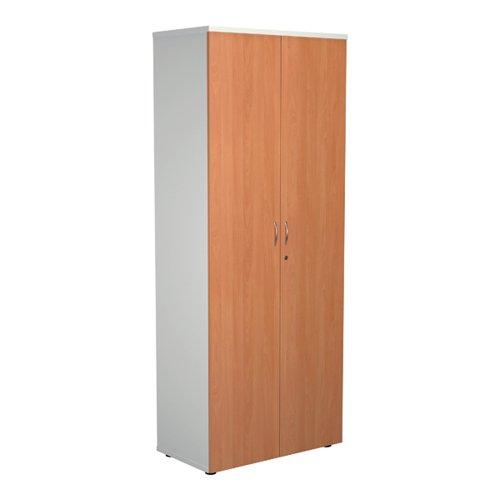 Jemini 2000 Wooden Cupboard 450mm Depth White/Beech KF811107